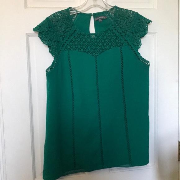 Brixon Ivy crocheted neckline blouse